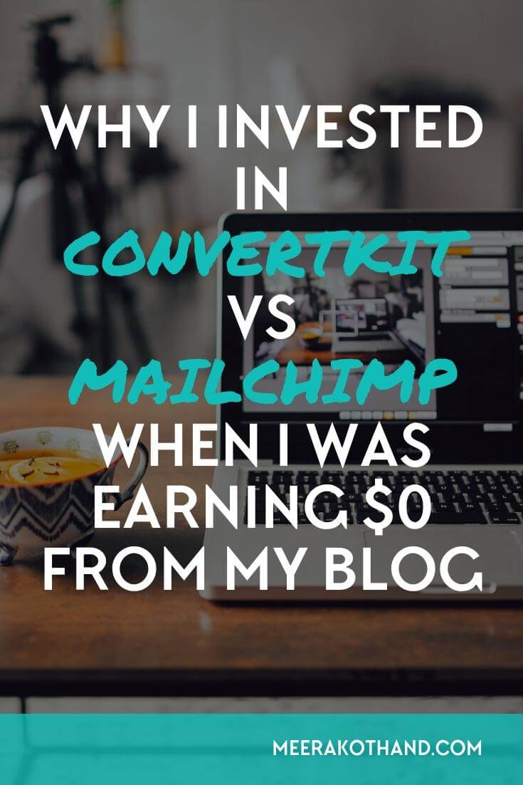 Thinking of turning your hobby blog into an online business? You need to consider a robust email marketing platform that will help you achieve your goals. Mailchilmp is free but doesn't have nearly half the features that convert kit does. Read this post on why I decided to invest in convert kit vs mailchimp as a new blogger. If you're serious about your business and email marketing, convertkit is where you to need to be.