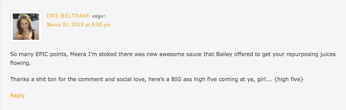 commenting on dre's blog
