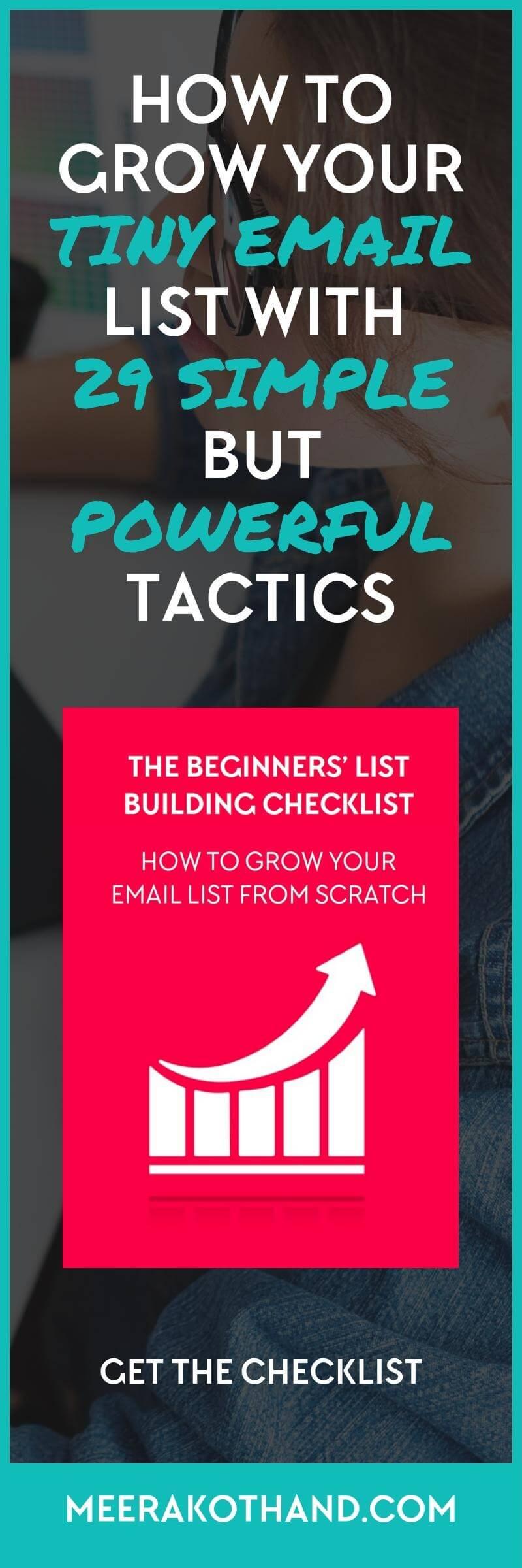 grow tiny email list