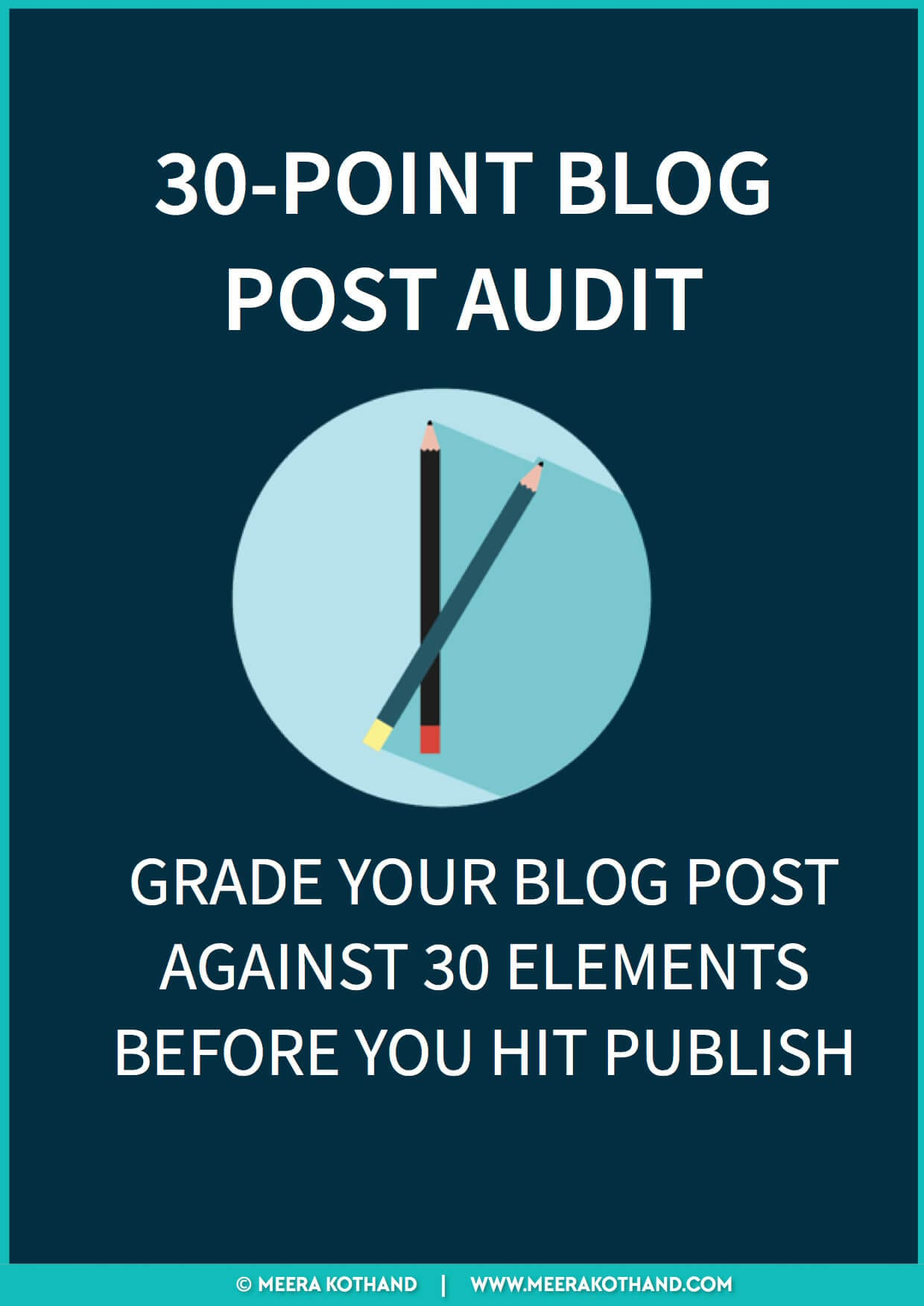 [Checklist] 30-POINT BLOG POST AUDIT