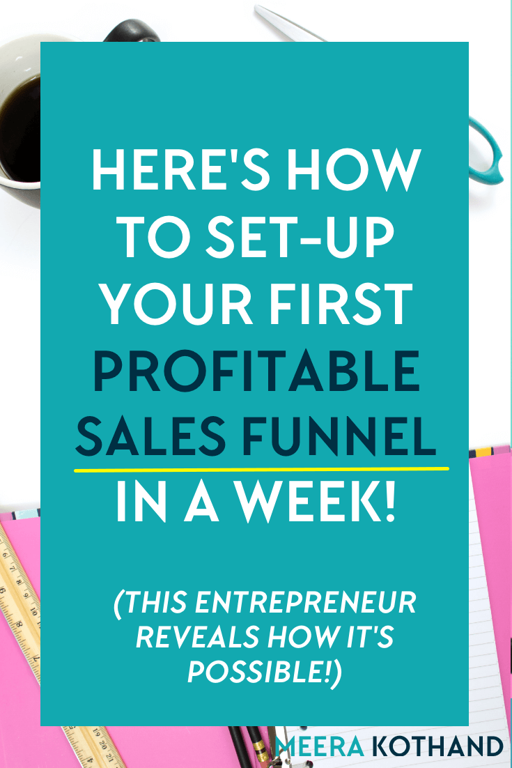 Wondering how a simple sales funnel could benefit your blog and business? Worried scared that you may not be able to do it? In this post, I interview Elise from House of Brazen who shows how it's possible to set-up your first profitable sales funnel within a week.